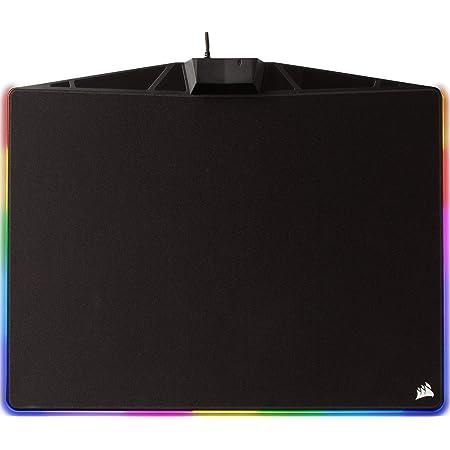 Corsair MM800 RGB Alfombrilla de ratón para juego 15 zonas RGB, superficie paño, tela, Tamaño Medio, Negro