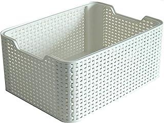 comprar comparacion Curver Style, Caja Organizadora, Blanco Vintage, S (7 L)