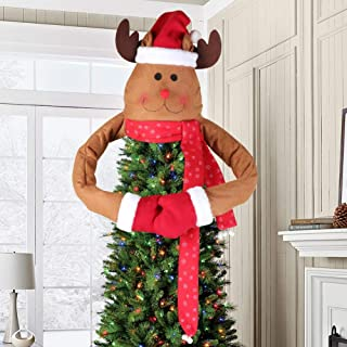 Aytai Deer Christmas Tree Topper Large Christmas Tree Topper for Christmas Tree Decoration