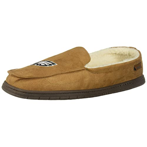 FOCO NFL Mens Beige Team Logo Moccasin Slippers Shoe e59826a5a