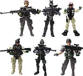YIJIAOYUN 6 Piezas Gran Figura de Acción Soldados del ejército de Juguete con Arma / Figuras Militares Conjuntos de Juegos