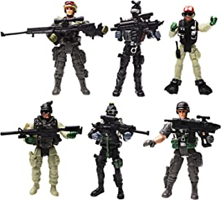 HAPTIME Soldier Figure Toy Army Men with Weapon / Military Action Figures Playset Special Force, Set of 6 (Each 3.75 inch Tall) (Special Forces)