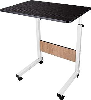 SISFORCE Medical Adjustable Overbed Bedside Table with Wheels Laptop Table Overbed Desk Rolling Laptop Stand Bed Desk for ...