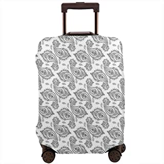 Travel Luggage Cover,Modern Tribal Inspired With Flower And Ornamental Shaped Work Of Art Suitcase Protector