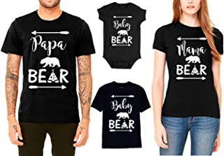 SR Bear Family T Shirts for Mama Bear Papa Bear Baby Bear