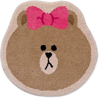 LINE FRIENDS Rug - CHOCO Character Face Floor Mat