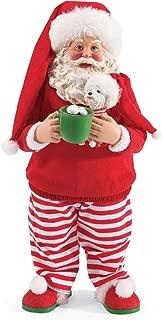 Department 56 Possible Dreams Santa and His Pets PJ Party Figurine, 10.5 Inch, Multicolor