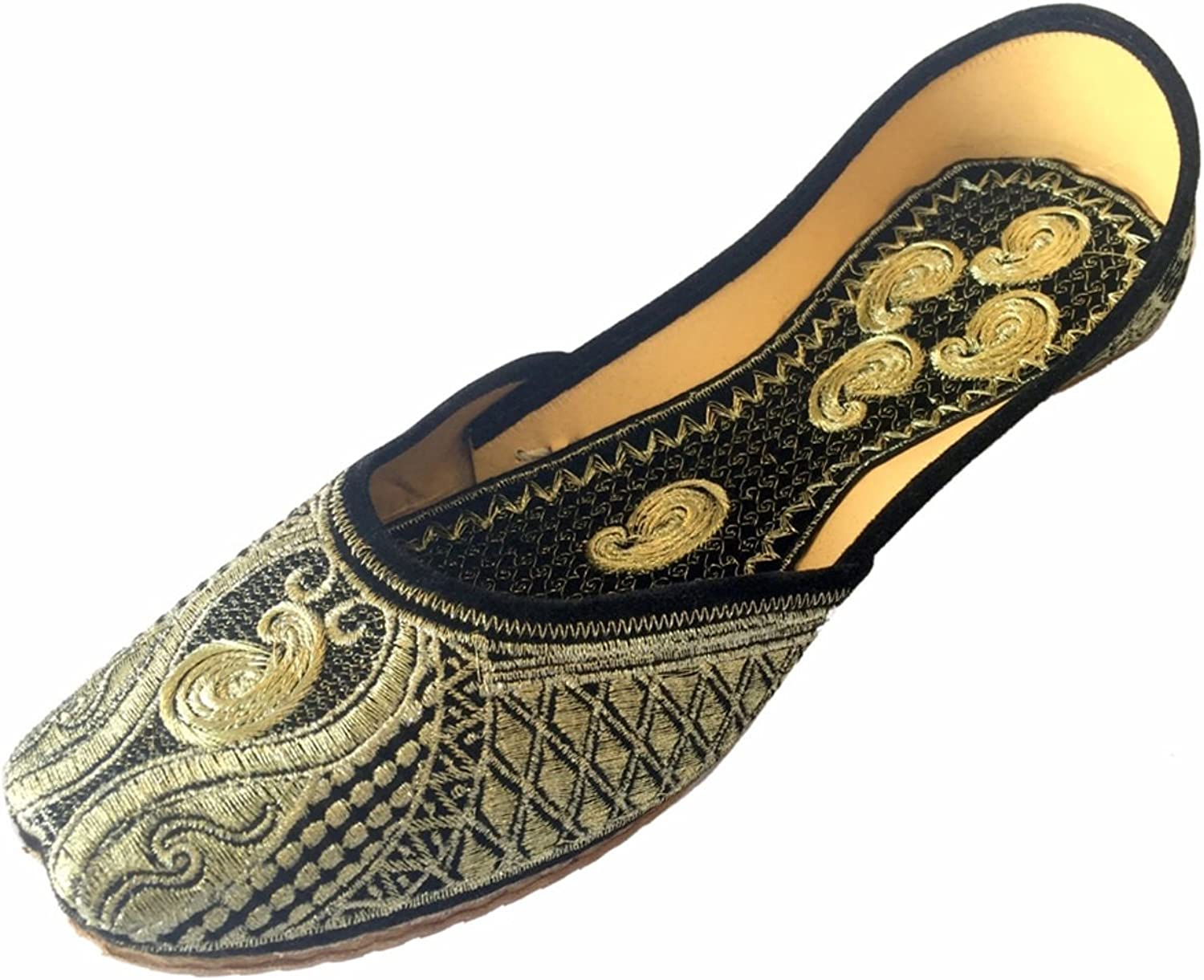 Step n Style Women's Leather Khussa Flat Sandals Loafer Jaipuri Jutti shoes