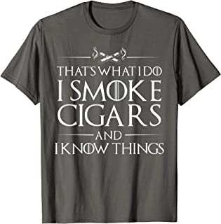 Smoke Cigars Smoker Shirt - Ideal Clever Class Men Gift