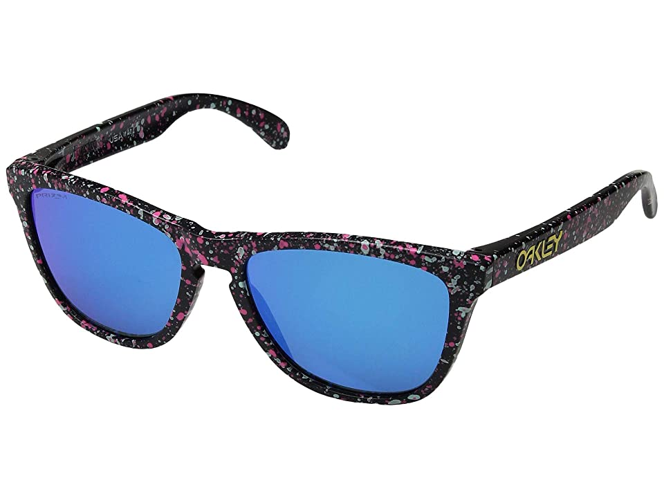 Oakley Frogskins (Splatter Black/Prizm Sapphire) Sport Sunglasses