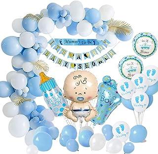 MMTX Baby Shower Décorations Garçon, Baby Shower Ballons de fête-Maman à être ceinture, bannières de fête de naissance, ba...