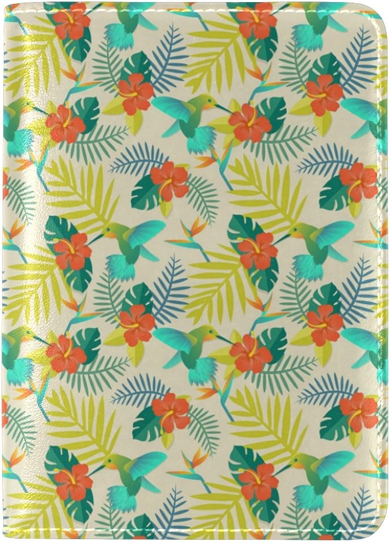COOSUNTropical und Humingbirds Leder Passhülle Cover für Travel One Pocket Pocket Pocket B075MYWYZG  Bequeme Berührung 9256cd