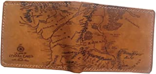 Unik4art - The Lord of The Rings Middle Earth map genuine leather men wallet leather handmade customization personalized gift