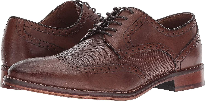 Johnston /& Murphy Mens Oxford Conard Embossed Wingtip Oak Leather 20-3894