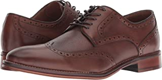 Johnston & Murphy Men's Oxford Conard Embossed Wingtip Oak Leather 20-3894