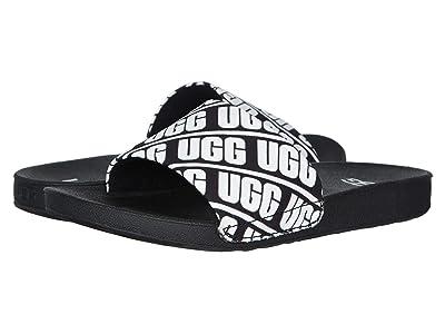 UGG Kids Beach Slide (Toddler/Little Kid/Big Kid) (Black/White) Kid