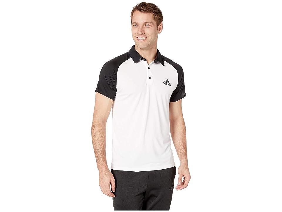 adidas Club Colorblock Polo (White/Black) Men