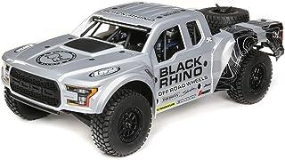 Losi 1/10 Ford Raptor Baja Rey 4WD RC Desert Truck Brushless 2.4GHz RTR, Black Rhino, Black Rhino: Grey