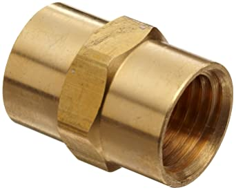 Airuida 1//2 Inch NPT Female to 1//2 Inch NPT Female Brass Thread Brass Pipe Coupling Adapter Fittings 2 Pack