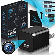 Hidden Wireless Mini Spy Camera - Security Cameras | 1080p HD Cam Charger | Perfect for Nanny Surveillance | No WiFi Needed. Small Portable Secret Motion Detection Camara for Your Home. (Normal)