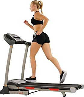 Sunny Health & Fitness Portable Treadmill with Auto Incline, LCD, Smart APP and Shock Absorber - SF-T7705
