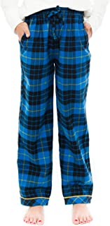 fe9e041ed5 TINFL 6-14 Years Unisex Child 100% Cotton Plush Flannel Winter Lounge Pants  Pocket