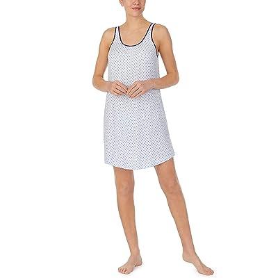 Kate Spade New York Modal Jersey Sleeveless Chemise (Blue Ribbon Pindot) Women