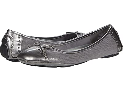 Anne Klein Buttons Flat (Pewter Multi Syntheic) Women