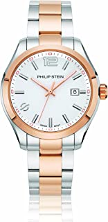 Philip Stein Men's Traveler Swiss-Quartz Watch with Two-Tone-Stainless-Steel Strap, 175.9 (Model: 92TRG-CWRG-SSTRG)