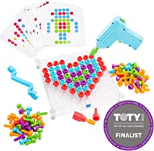 Educational Insights Design & Drill See-Through Creative Workshop - Drill Toy, STEM & Construction, Building Toy