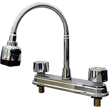 Mezcladora para Fregadero, Flexible, con Aireador, Plug and Play