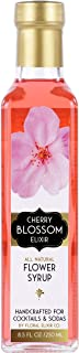 Floral Elixir Co. Cherry Blossom Elixir - All Natural Syrup for Cocktails & Sodas, 8.5 oz