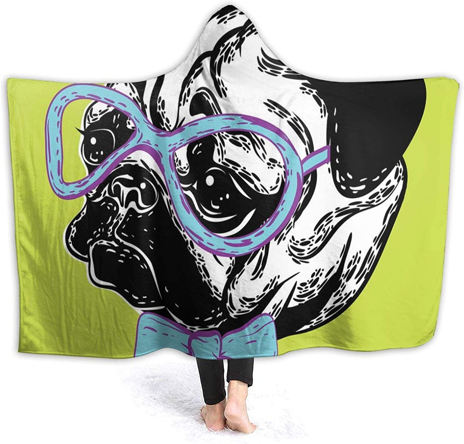 Hooded Blanket outlet Anti-Pilling Flannel Cute Dog Tie A Bow with Max 48% OFF and