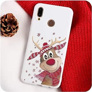 Christmas Cartoon Elk Phone Case Compatible for Mate 10 20 30 Lite P8 P9 P10 P20 P30 Lite Mini P Smart Y6 Y7 Pro TPU Cover,P Smart 2019,milu
