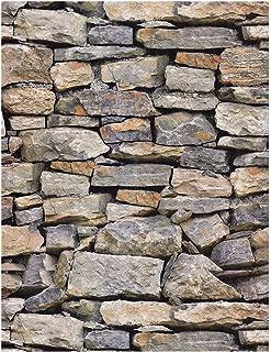HaokHome 28001 Vintatge Stone Wallpaper Rolls Sand/Taupe/Khaki Brick Realistic Designer Home Interior Decoration 20.8
