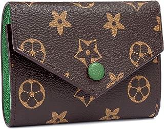 Women RFID Blocking Retro Wallet, Small Wallet Tri-fold Credit Card Holder