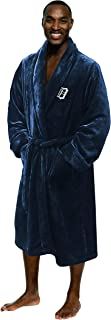 "Officially Licensed MLB Detroit Tigers Men's L/XL Silk Touch Bath Robe, Blue, 26"" W x 47"" L"