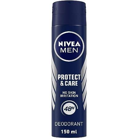 NIVEA Men Deodorant, Protect & Care, No Skin Irritation & 48h Freshness, 150 ml