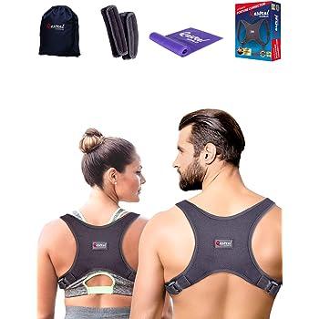Back Straightener Posture Corrector for Women and Men - Shoulder Brace Back Posture Corrector for Men - Upper Back Support and Neck Pain Relief - Under Clothes Back Brace for Neck & Shoulder