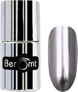 Beromt Satin Finish Nail Polish | Color Crush Nail Art| Metallic Chrome, Sliver, 305, 11 ml
