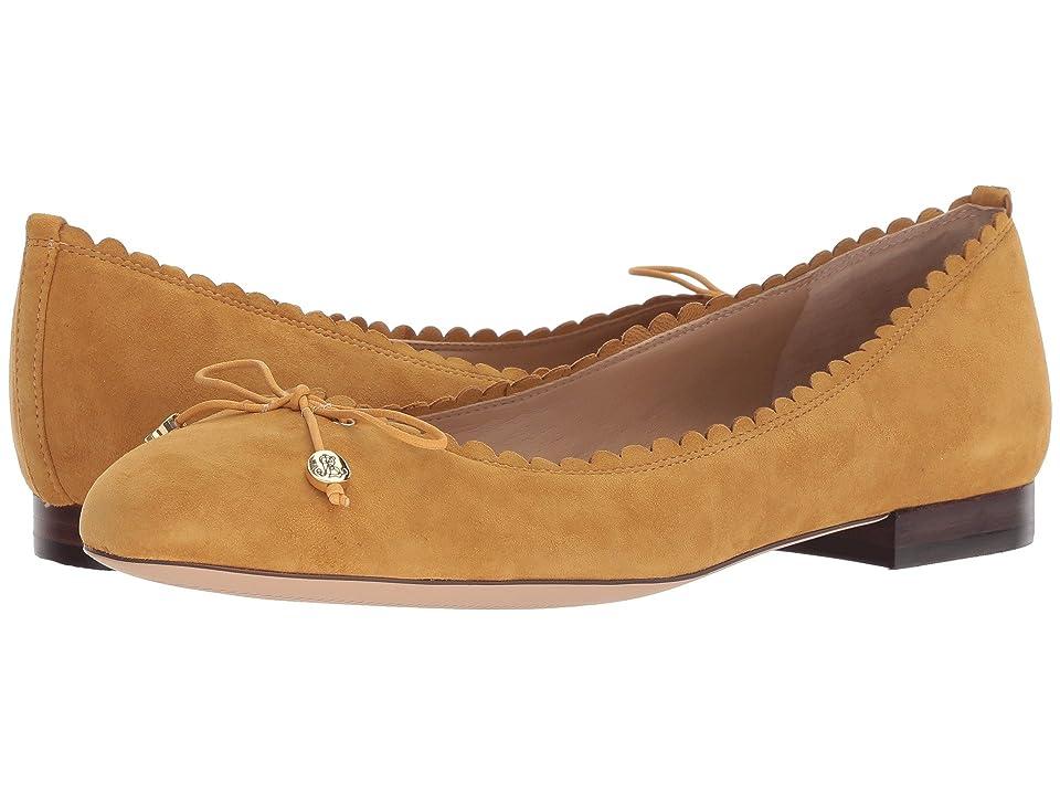2d87a9e1cf6 LAUREN Ralph Lauren Glennie (Saffron Suede) Women s Flat Shoes