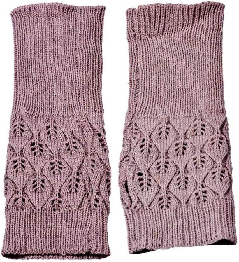 EODNSOFN 1 Pair Winter Gloves Female Fingerless Gloves Knitted Fingers Solid Women Cashmere Warm Winter Gloves Hand Wrist Warmer Mittens (Color : A)