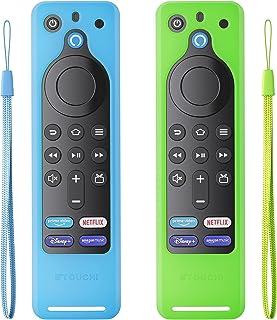 【2パック】Fire TV Stick 第3世代 リモコン カバー シリコン リモコン保護ケース Alexa保護カバー 耐衝撃 滑り止め Alexa 2021対応音声認識 シリコンリモートケース 第2世代にも対応