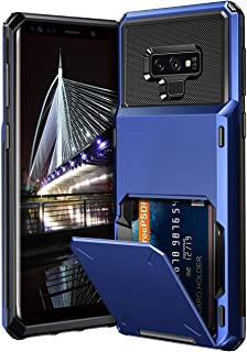 Vofolen Case for Galaxy Note 9 Case Wallet 4-Slot Pocket Credit Card ID Holder Scratch Resistant Dual Layer Protective Bumper Rugged Rubber Armor Hard Shell Cover for Samsung Galaxy Note 9 Navy