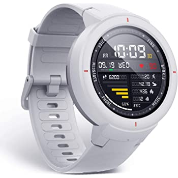 Amazfit Verge Smartwatch with Alexa Built-in, GPS Plus GLONASS All-Day Heart Rate and Activity Tracking, 5-Day Battery Life, Ability to Make and Answer Phone Calls, Ip68 Waterproof, A1811 White