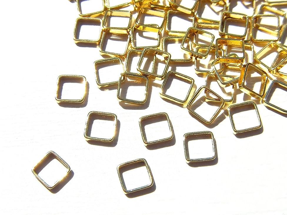 雇用者マトロンデザート【jewel】ゴールド 立体メタルパーツ 10個入り スクエア 型 (正方形) 直径4mm 厚み1mm 手芸 材料 レジン ネイルアート パーツ 素材