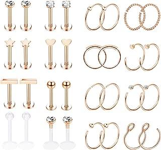 helix piercing earrings gold