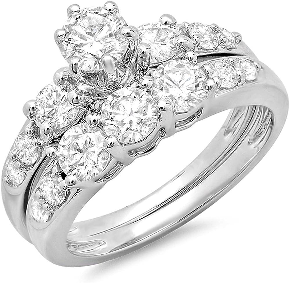 Dazzlingrock Collection 1.80 Carat ctw Round Over item handling Max 82% OFF ☆ 14K Diamond Gold