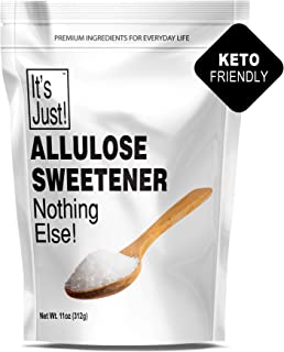 It's Just - Allulose, Sugar Substitute, Keto Friendly Sweetener, Non-Glycemic, Made in USA (11oz)