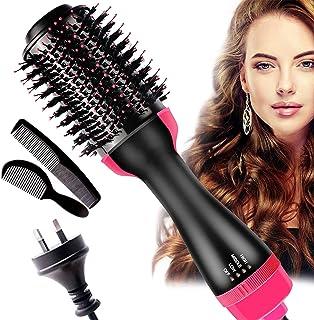 AU PLUG Hot Air Brush,One Step Hair Dryer& Volumizer Dryer, Volumizing Styler Comb 4in1 Negative Ion Hot Volumizer Hair Br...